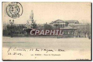 Postcard Old Nimes Esplanade Place
