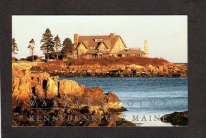 ME President Vice President George H W Bush Point Kennebunkport Maine Postcard