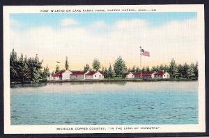 Fort Wilkins Lake Fanny Hooe Copper Harbor MI unused c1930's