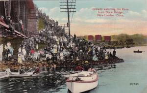 NEW LONDON , Connecticut , 1900-10s ; Crowds watch the race
