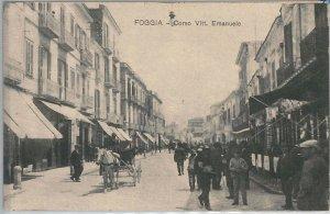 49772  CARTOLINA d'Epoca - FOGGIA : Corso Vittorio Emanuele  1917  - BELLA!