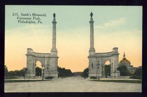 Philadelphia, Pennsylvania/PA/Penn Postcard, Smith's Memorial, Fairmount Park