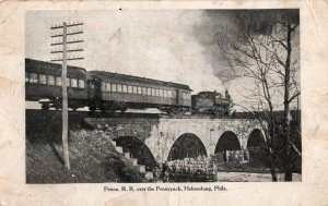 12417 Pennsylvania Railroad Over Pennypack Creek, Holmesburg, Philadelphia 1911