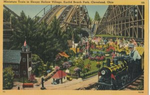 CLEVELAND , Ohio ,1930-40s ; Euclid Beach Park Miniature Train