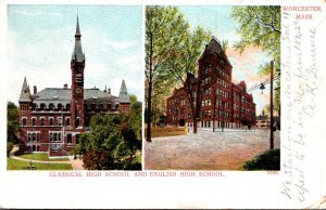 Massachusetts Worcester Classical High School and English High School 1906