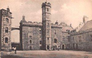 Palace Courtyard, Edinburgh Castle Scotland, UK Writing on back