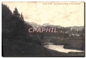Old Postcard Tram Les Forts de Joux and Larmont