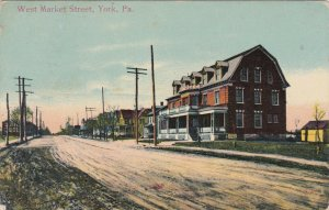 Pennsylvania York West Market Street 1917 sk3436