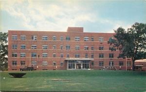 Woonsocket Rhode Island~Hospital~1950s Woody Wagon~Postcard