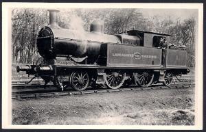 LANCASHIRE & YORKSHIRE Railroad Locomotive #637 RPPC unused