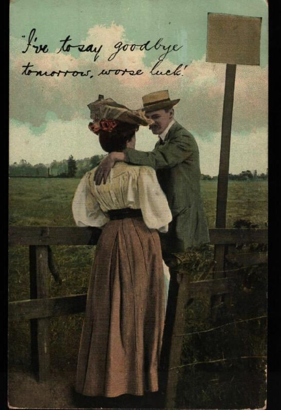 Manassa CO Zimmerman Romance Goodbye Burleigh Undivided Vintage Postcard B06