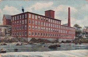 Maine Guilford M L Hussey Woolen Company