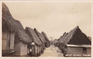 Panama Typical Native Village Real Photo