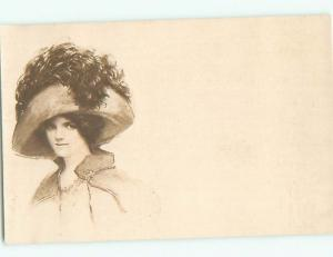 Divided-Back PRETTY WOMAN Risque Interest Postcard AA7871