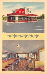 Raleigh North Carolina~Drive In Grill Art Deco Diner~Inside Out~1952 Linen PC