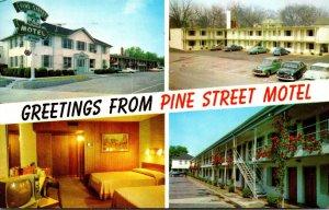 South Carolina Spartanburg Greetings From Pine Street Motel 1962