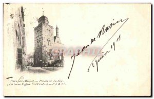 Old Postcard Paray Moinal Old Courthouse St Nicolas church