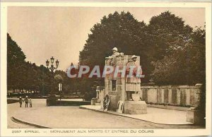 Old Postcard Epinal Memorial and entree course Militaria