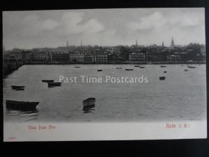 Isle of Wight RYDE View from Pier c1902 UB by Stengel & Co 14737