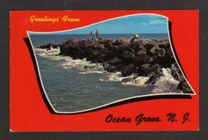 NJ Greetings from OCEAN GROVE NEW JERSEY Postcard PC
