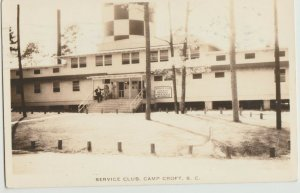 WWII Camp Croft SC Army Service Club Library RPPC 1943 real photo Postcard