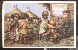 Mint Italy picture postcard people of the Tigray Freedom By Italian Troops
