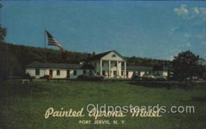 Painted Aprons Motel, Port Jervis, New York, USA Motel Hotel Postcard Postcar...