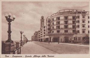 Bari Italy Italian Lungomare Grande Albergo Delle Marioni Rare Antique Postcard