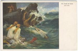 Leete Nude Mermaids Mermen Swimming Rare Postcard