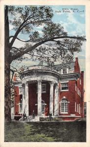 High Point North Carolina~Elk's Home~Fraternal: BPOE~Men on Porch~1920s Postcard