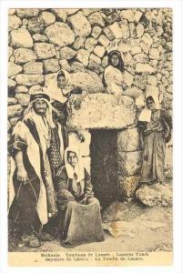 Arab man & famili at Lazarus Tomb, Bethanie., Israel, 00-10s