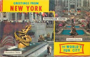 United States New York Prometheus statue & channel gardens