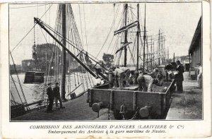 CPA Commission de Ardoisieres d'ANGERS (Lariviere & Cie) Embarquement (207045)