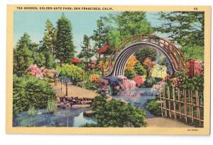 San Francisco Garden Golden Gate Park Piltz Linen Postcard