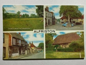 UNUSED MULTI VIEW PICTURE POSTCARD - ALFRISTON    (KK1625)