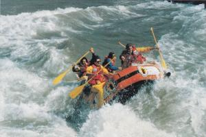 White Water Rafting Through the Grand Canyon of the Snake River, JACKSON HOLE...