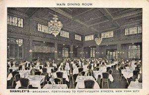 Shanley's Restaurant, Manhattan, New York City, N.Y., Early Postcard, Unused
