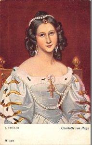 Charlotte von Hagn J stieler Postcard Unused
