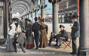 The Colonnade, Windward Avenue, Venice, California, Early Postcard, Unused