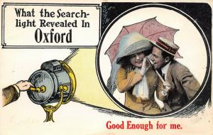 What the Searchlight Revealed in Oxford Indiana~Victorian Couple~1914 PC