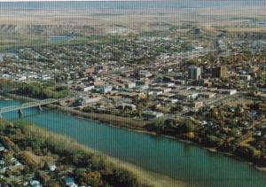Canada Aerial View Medicine Hat Alberta