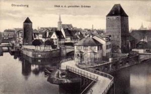 Strassburg, Blick v. d. gedeckten Brucken, Alsace, France, 10-20s