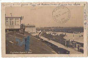 Airport, Flughafen Aspern b. Wien, Austria, 1932 used Real Photo RP Postcard