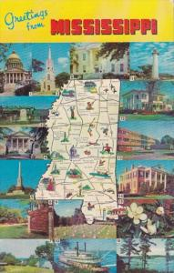 Greetings From Mississippi With Map