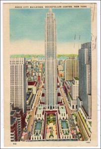 NY - New York City. Radio City Buildings, Rockefeller Center
