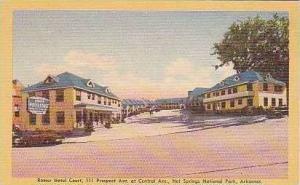 Arkansas Hot Springs National Park Romer Hotel Court Dexter Press