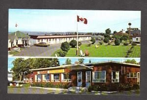 PQ QC Motel au Fleuve D'argent Riviere du Loup Quebec Carte Postale  Postcard PC