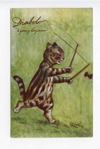 Raphael Tuck Louis Wain Dog Diabolo Postcard
