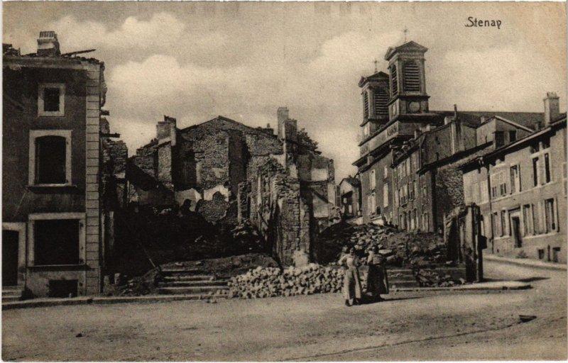 CPA Stenay - Rue - Street Scene - Ruines (1036847)