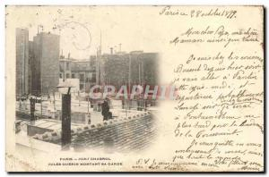 Old Postcard Customs Paris Fort Chabrol Jules Guerin amount custody Map 1899